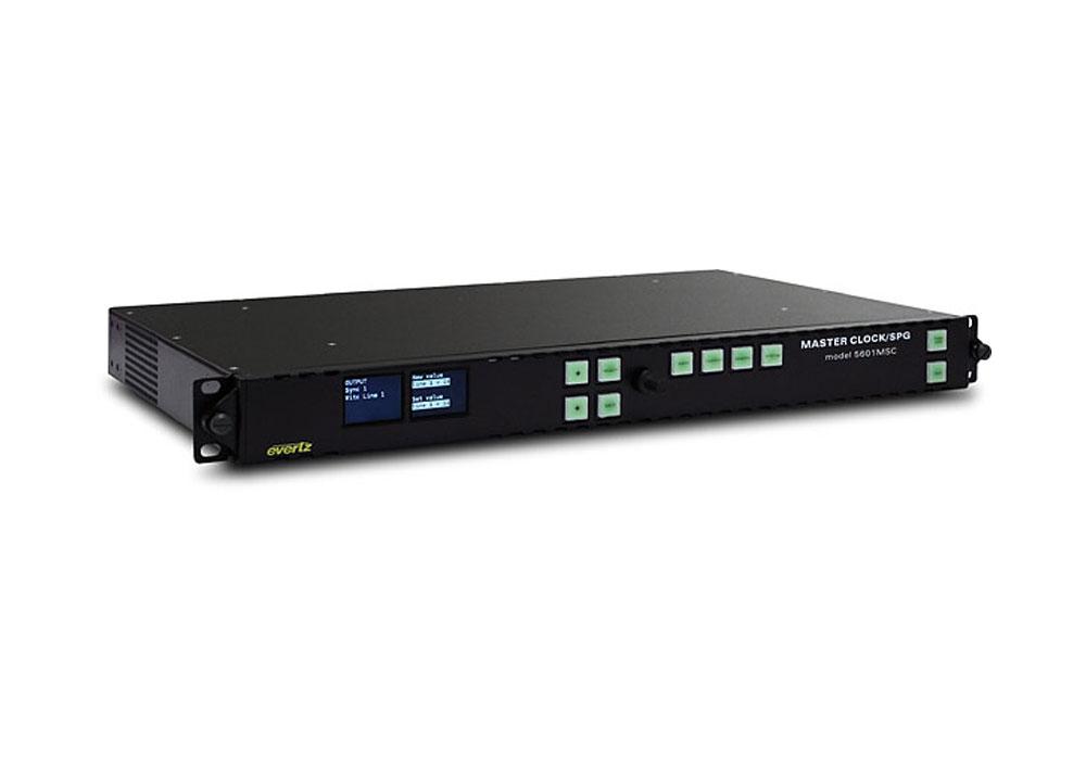 Evertz 5600MSC Master Clock/SPG +GP+HTG+STG+2PS+WC