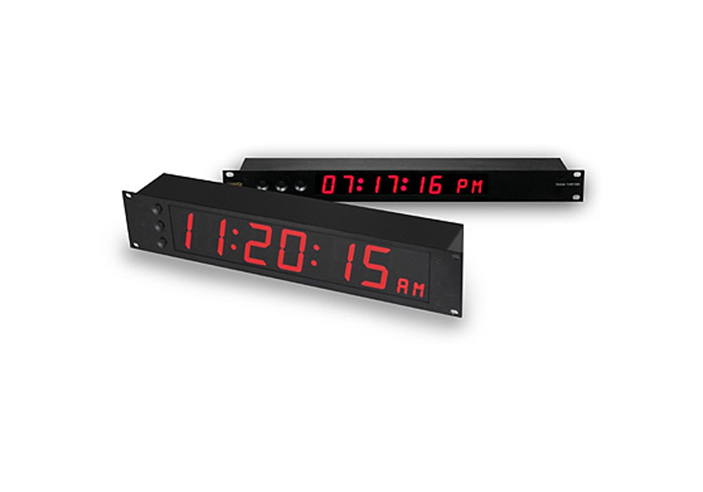 Evertz 1200DD Digital Clock - Red LED -2RU