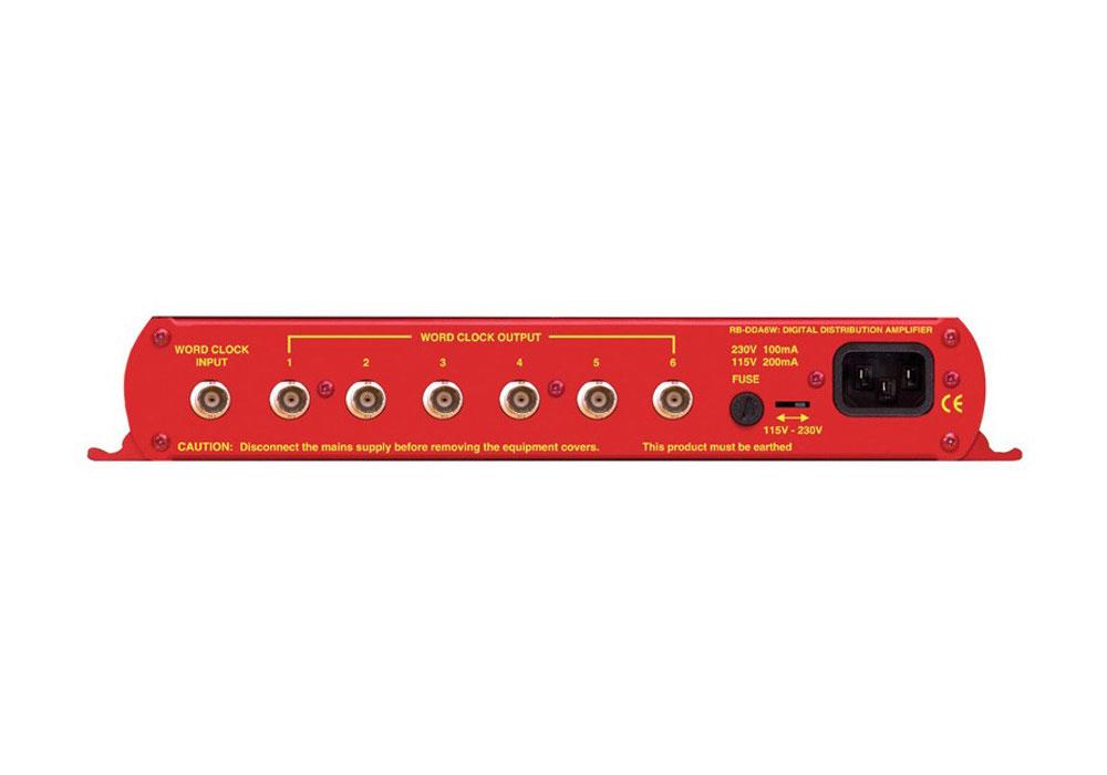 Sonifex Redbox DDA6W 6 Way Word Clock Distribution Amplifier
