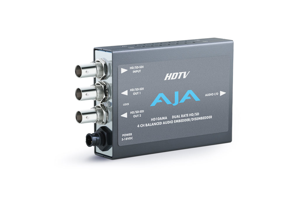 AJA HD10AMA 4 Channel Audio Embedder/Deembedder